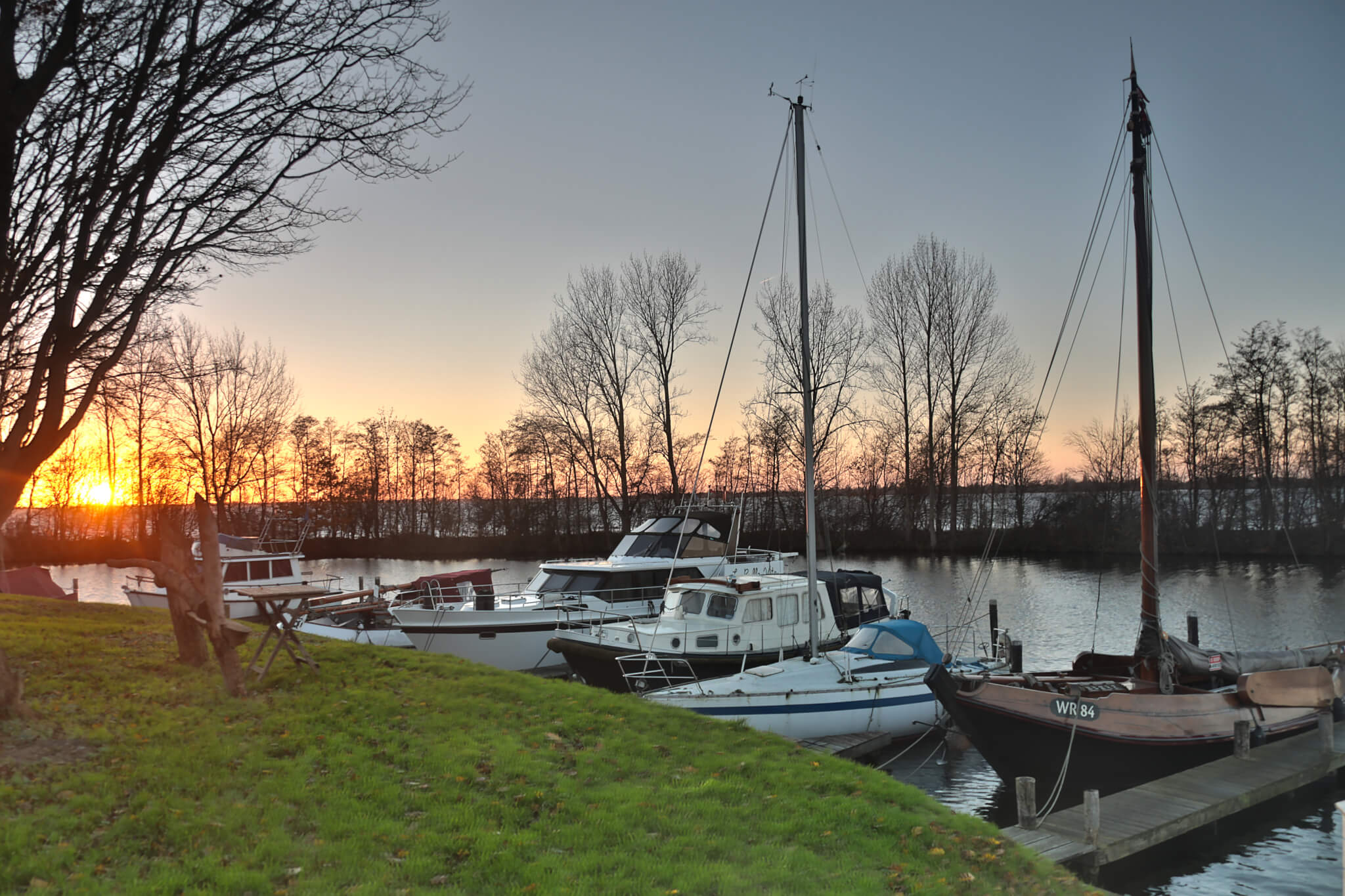 Marina sunset Aalsmeer