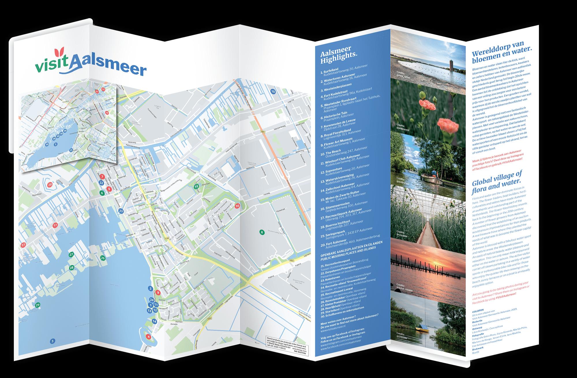 Plattegrond van Visit Aalsmeer