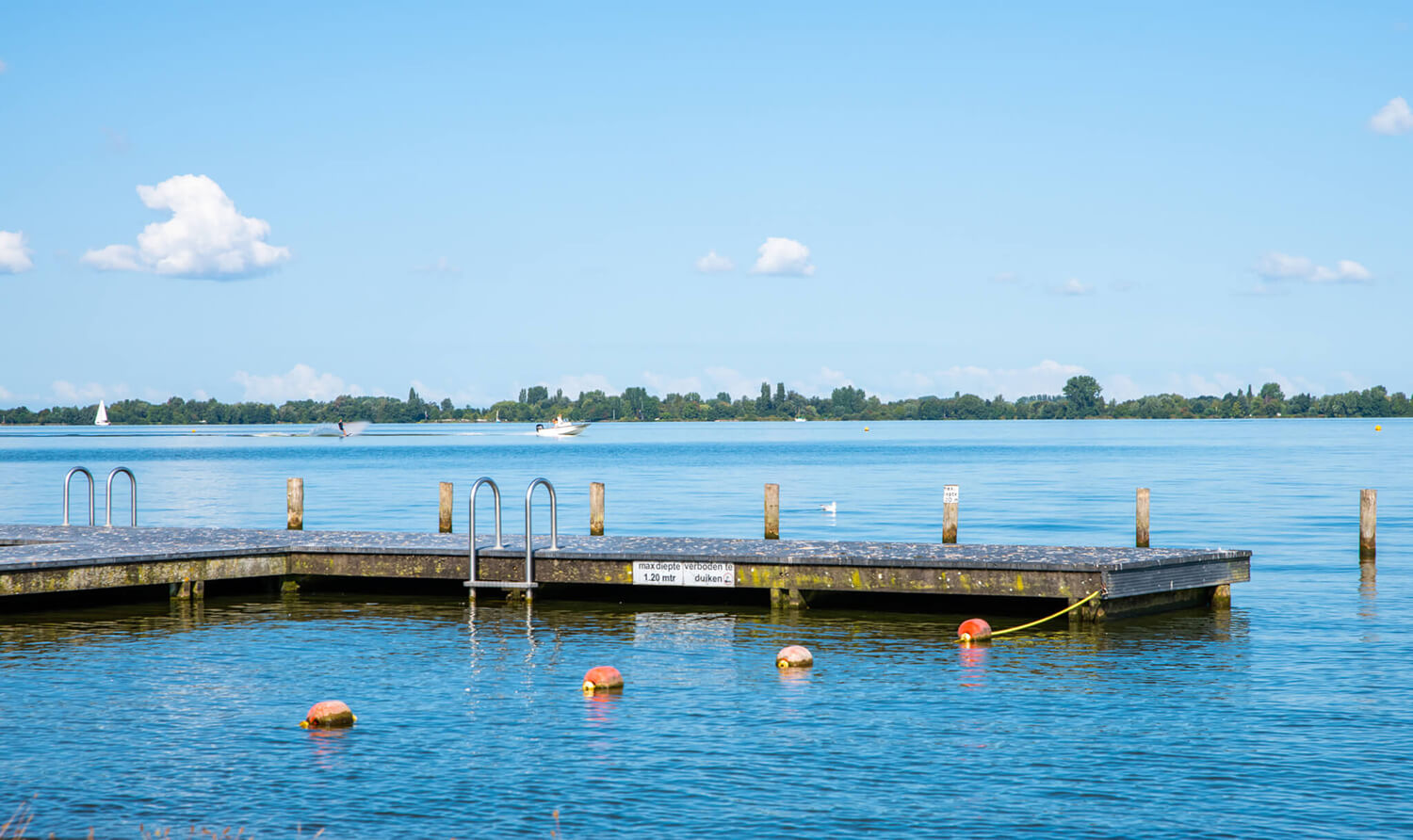Swimming in Aalsmeer at swimming jetty Kudelstaart